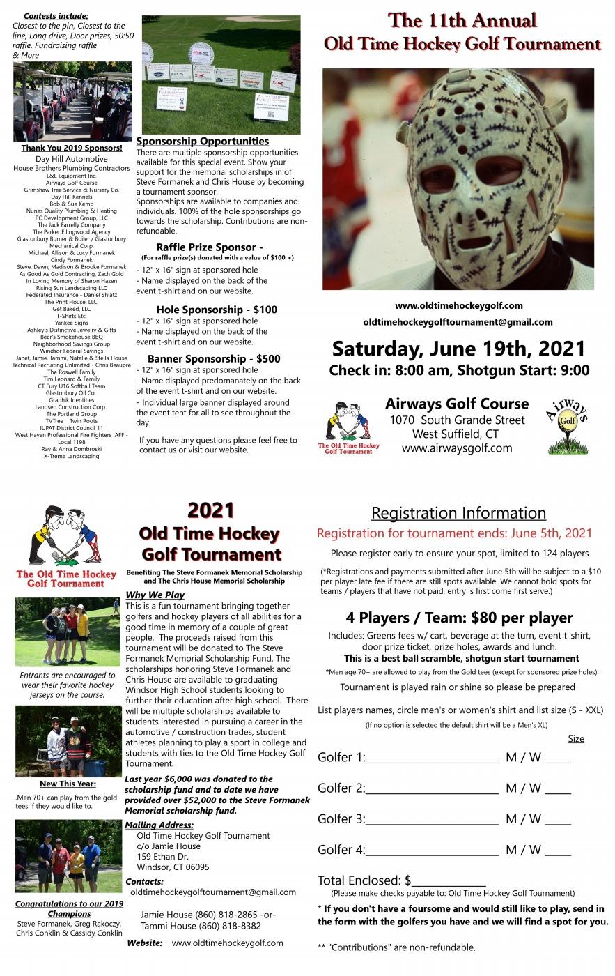 2021 Tournament Flyer